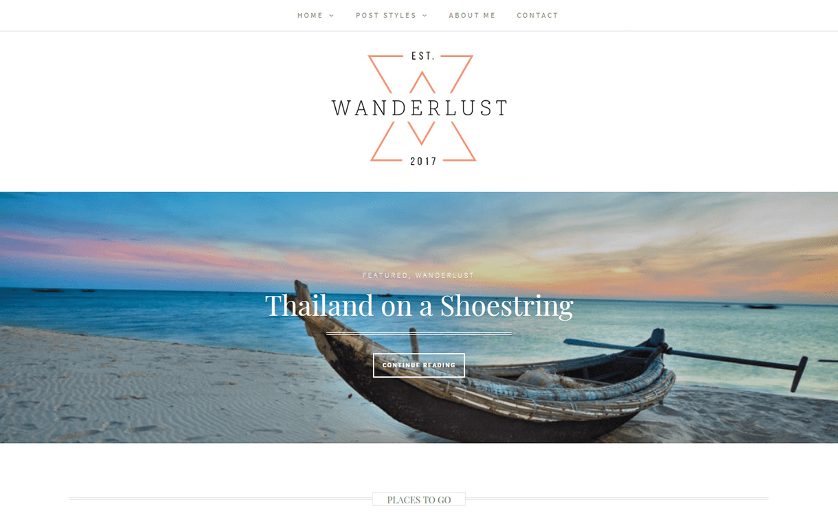 Wanderlust-Free Photography WordPress Theme