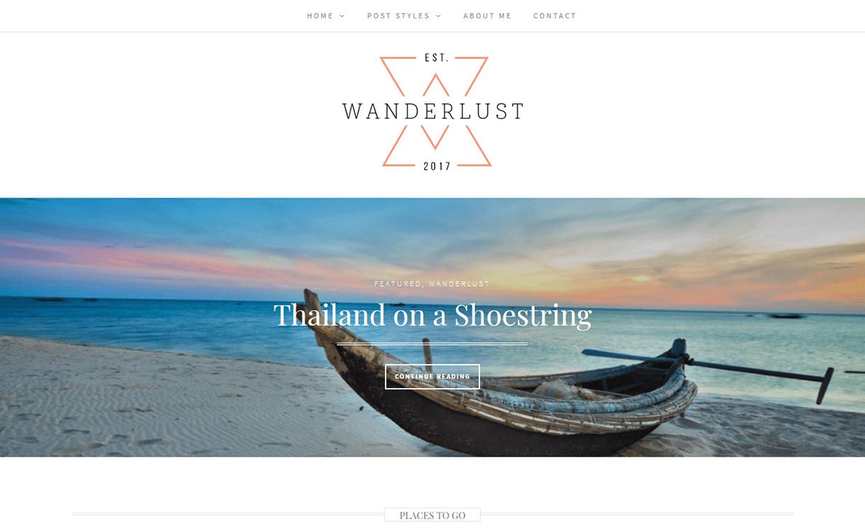 Wanderlust-Free Photography WordPress Theme