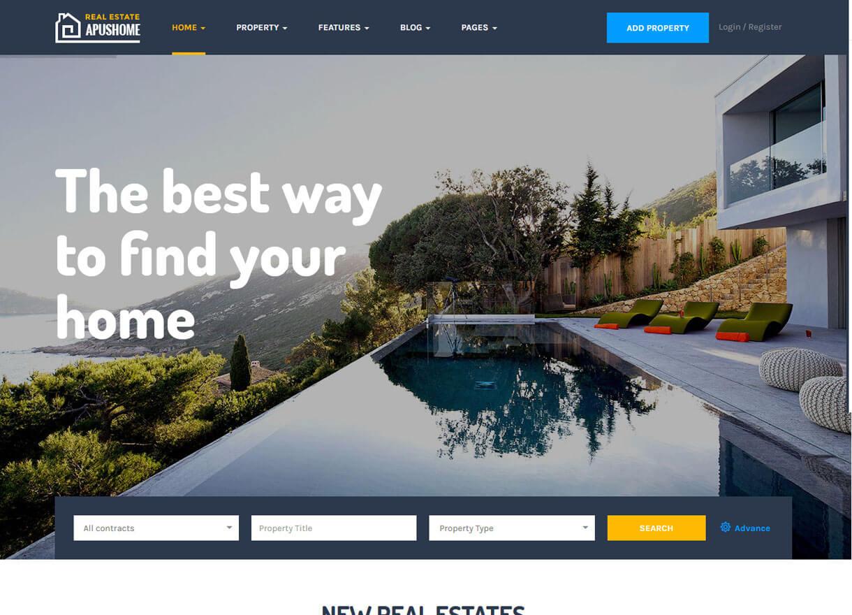 ApusHome-Best Premium Real Estate WordPress Themes