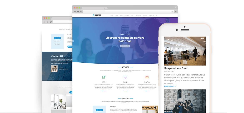 Eight Degree – Free WordPress Corporate Business Theme