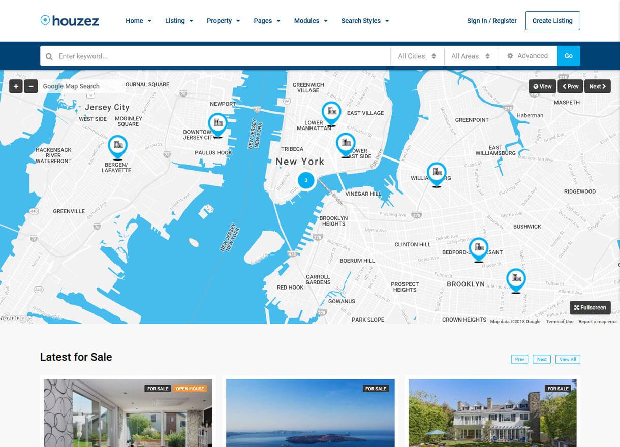 Houzez-Best Premium Real Estate wordPress Themes