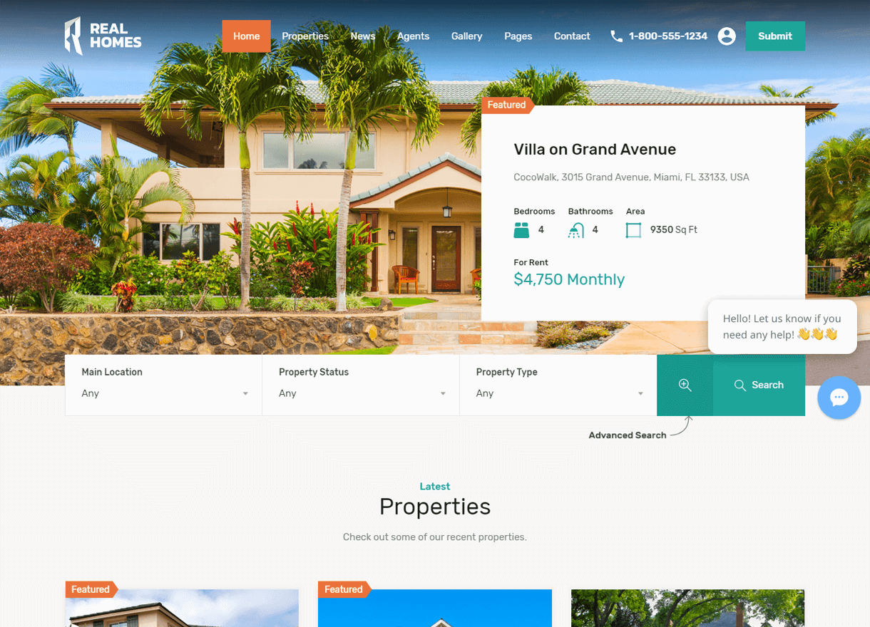Real Homes-Best Premium Real Estate WordPress Themes