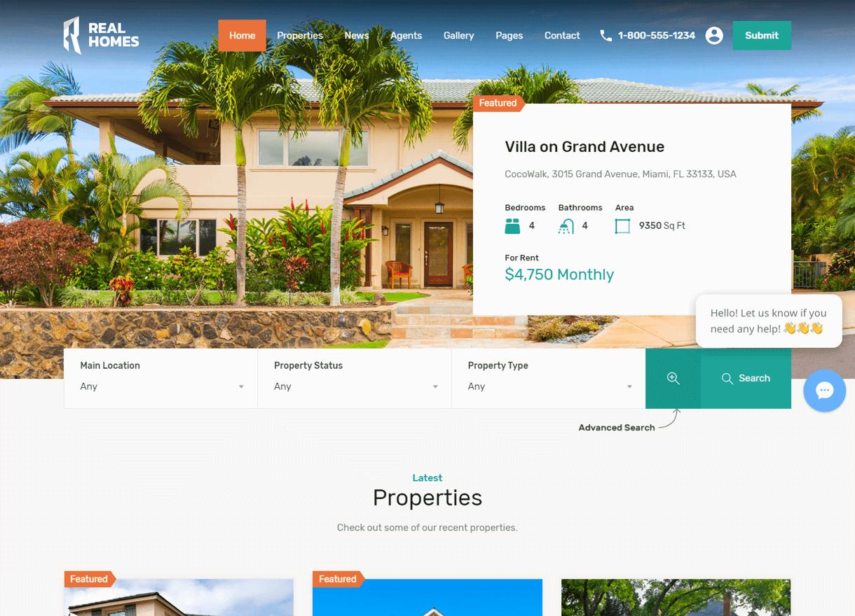 Real Homes-Best Premium Real Estate WordPress Themes