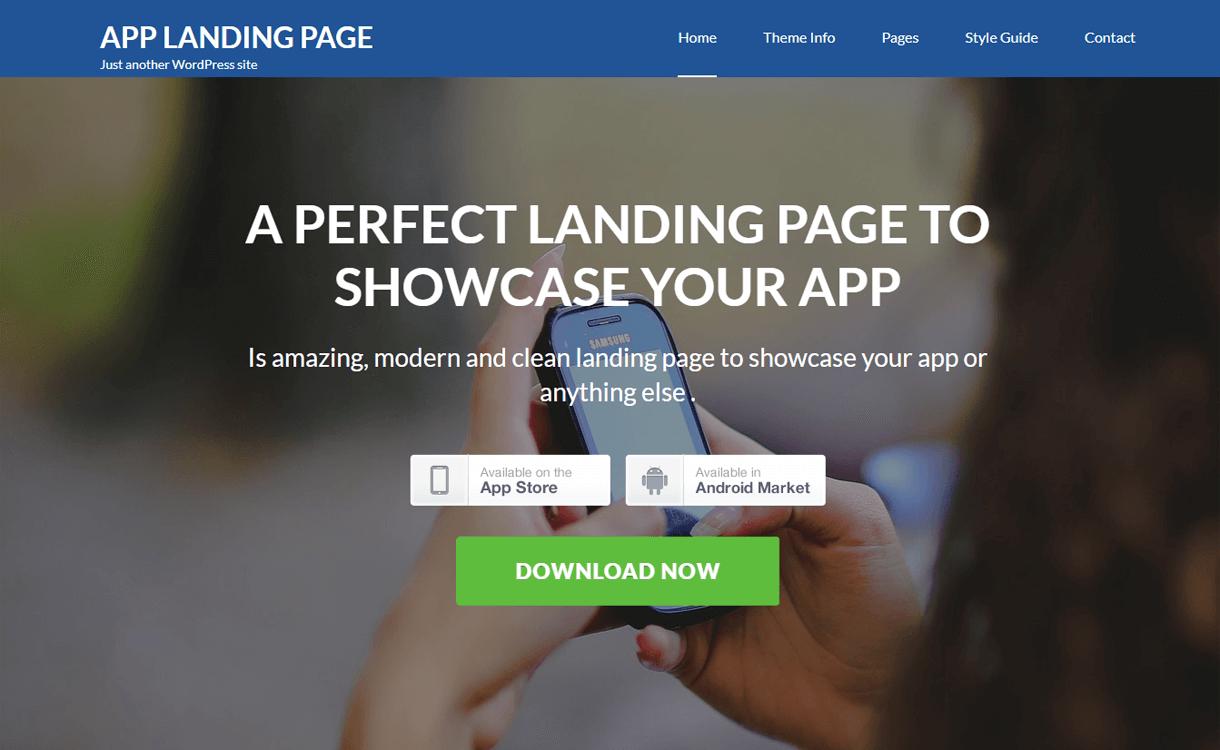 App Landing Page - Best Free Landing Page WordPress Themes