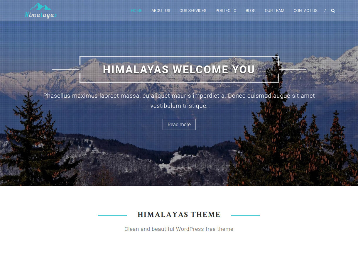 Himalayas-Best Free One page WordPress Themes