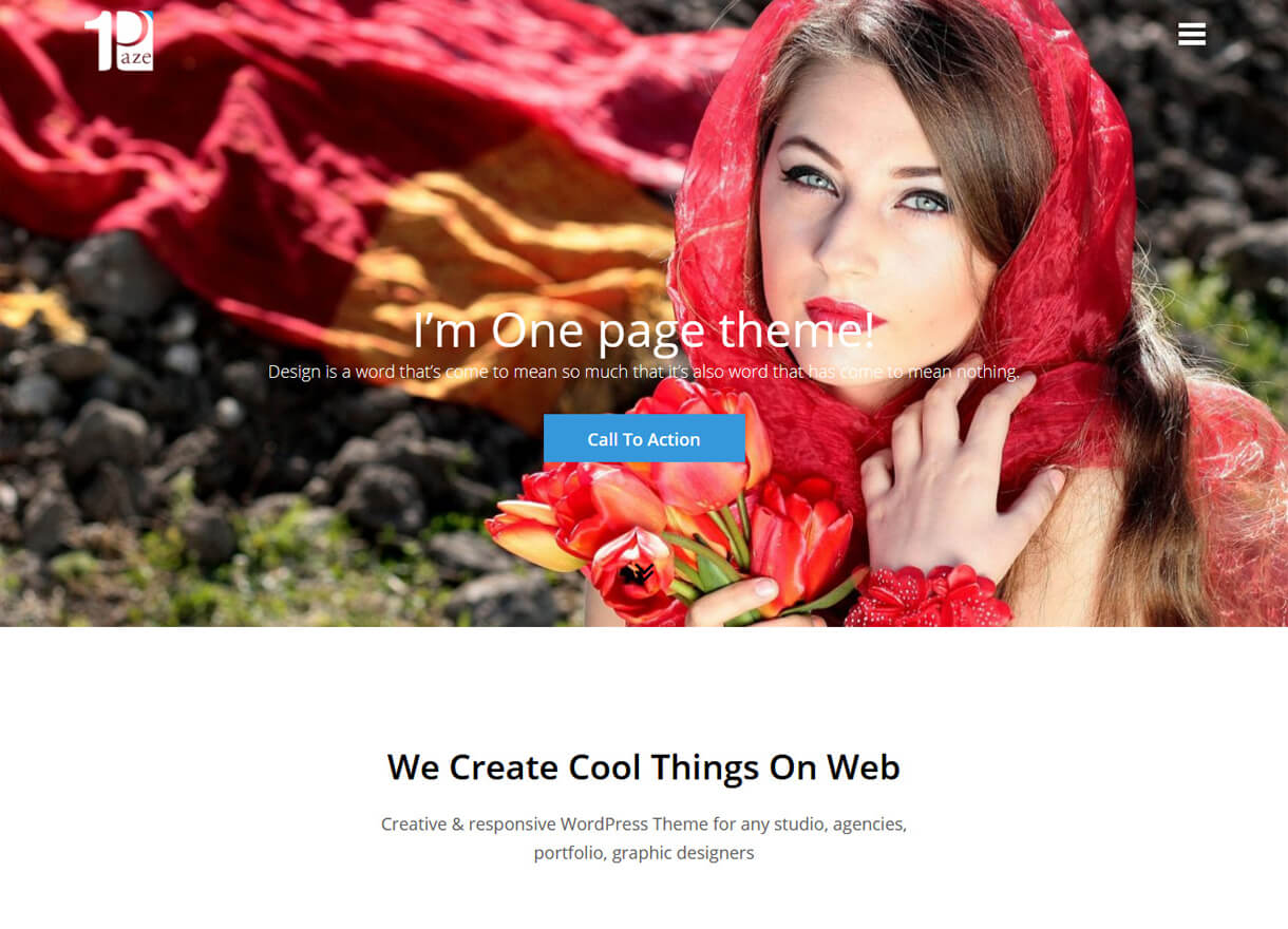 One Paze-Best Free One page WordPress Themes
