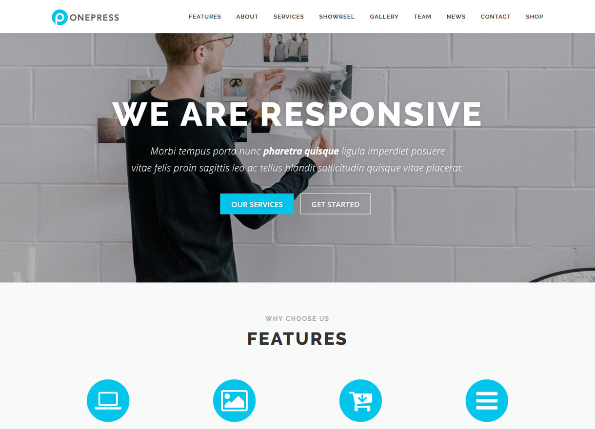 OnePress-Best Free One page WordPress Themes