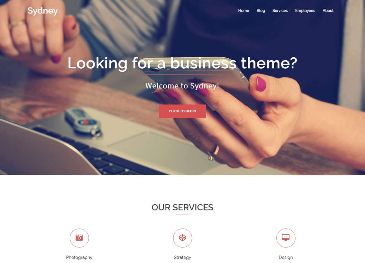 Sydney-Best Free One page WordPress Themes