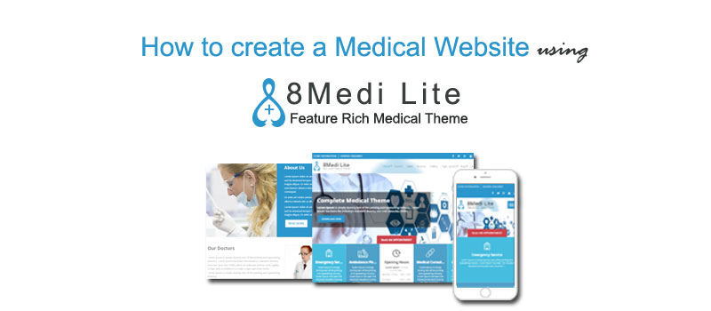 How to start a medical website in WordPress using EightMedi?