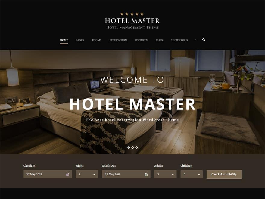 Hotel Master - WordPress Hotel and Resort Themes