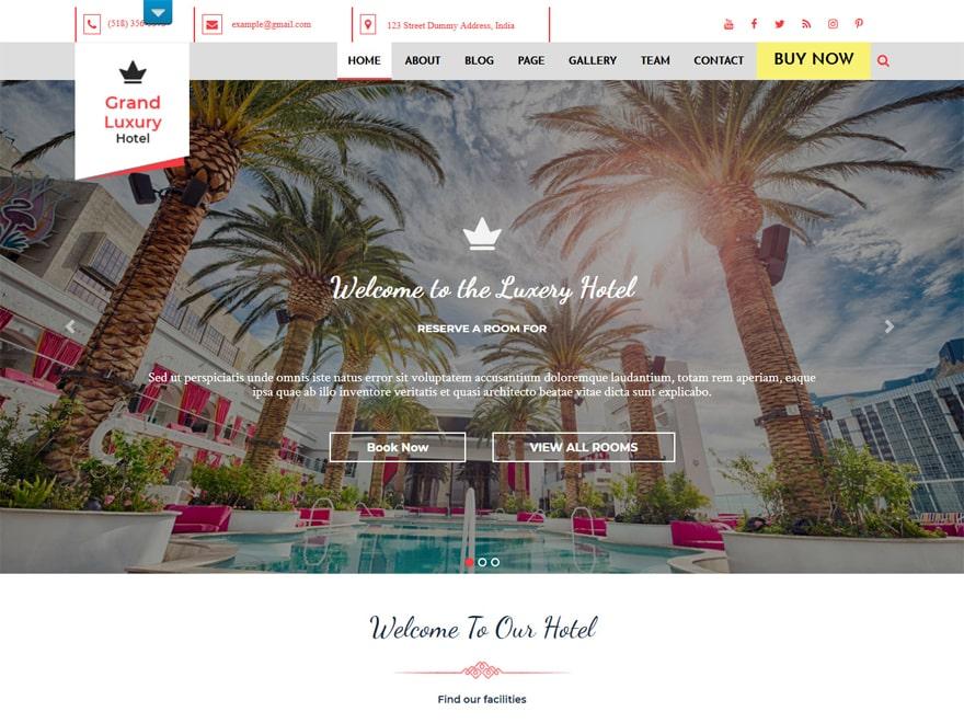 Hotel Resort - WordPress Hotel and Resort Themes