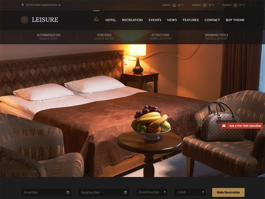 Leisure - WordPress Hotel and Resort Themes