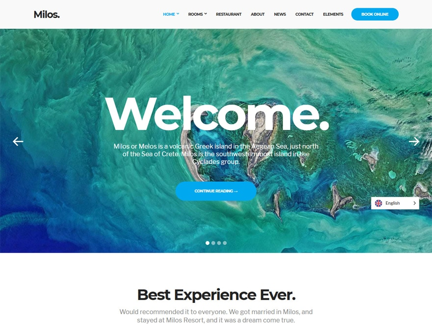 Milos - WordPress Hotel and Resort Themes