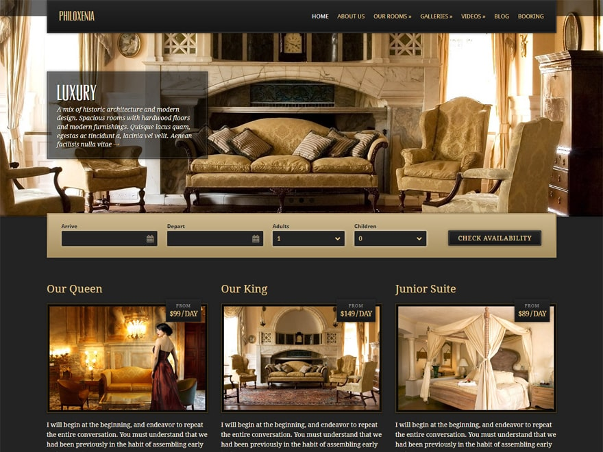 Philoxenia - WordPress Hotel and Resort Themes