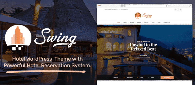 Swing – The Best Hotel and Resort WordPress Theme 2019