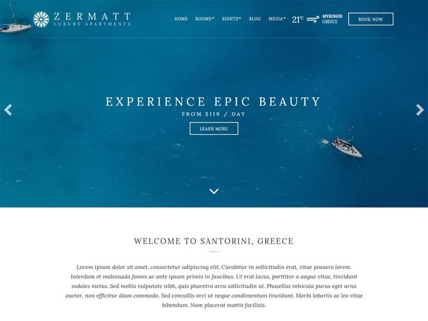 Zermatt - WordPress Hotel and Resort Themes