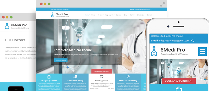 EightMedi Pro - Premium Medical & Health WordPress Theme