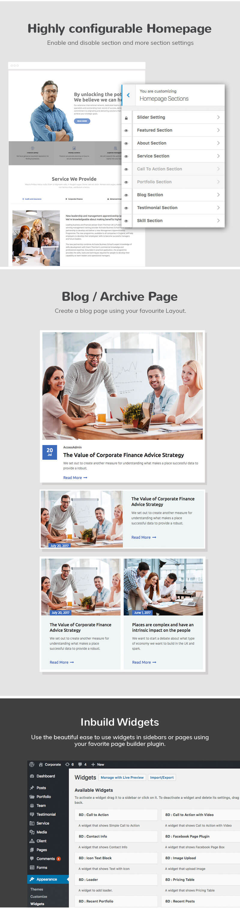 Eight Degree Pro – WordPress Corporate Business Premium Theme