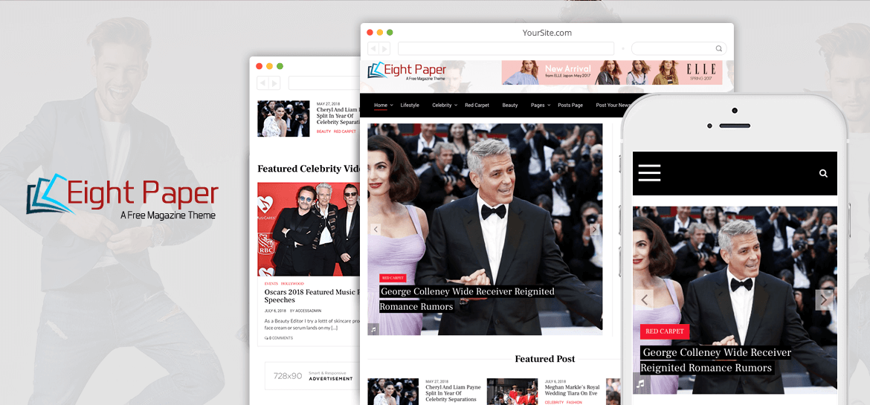 Eight Paper – Free Newspaper Magazine WordPress Theme