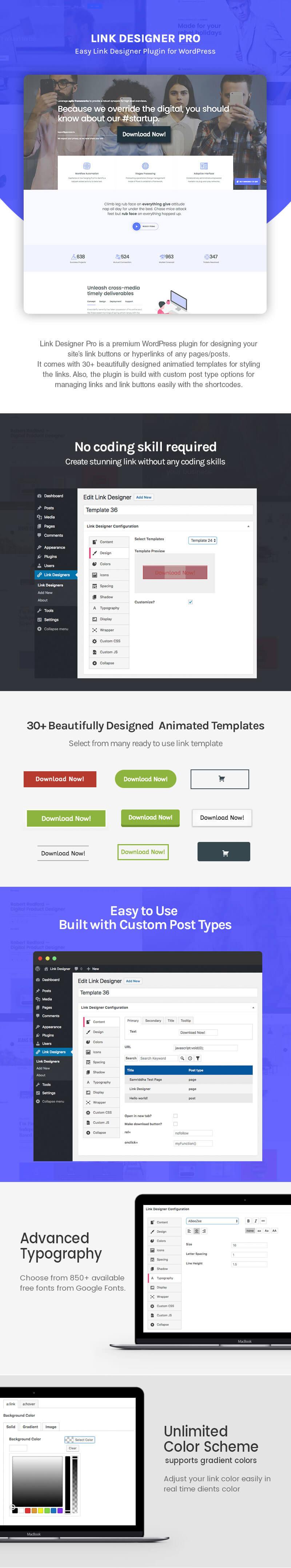 Link Designer – Premium Link Designer Plugin for WordPress