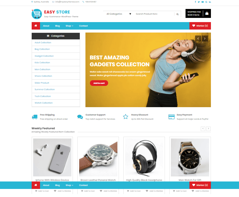 Easy Store – Best E-commerce and WooCommerce WordPress Themes and Templates