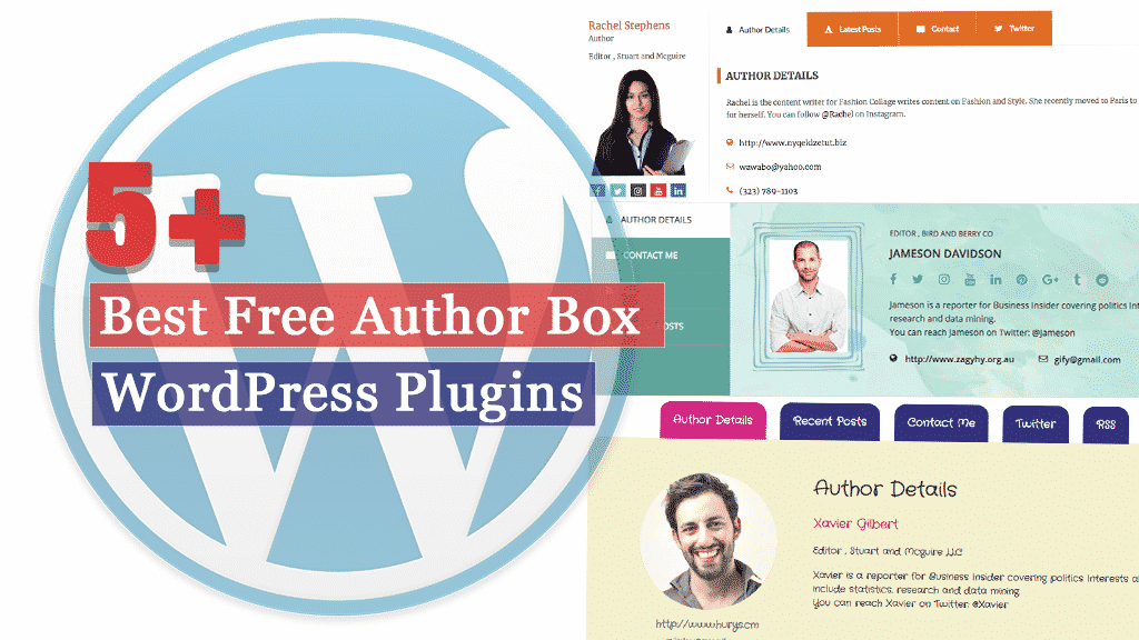 Best Free WordPress Author Bio Box Plugins