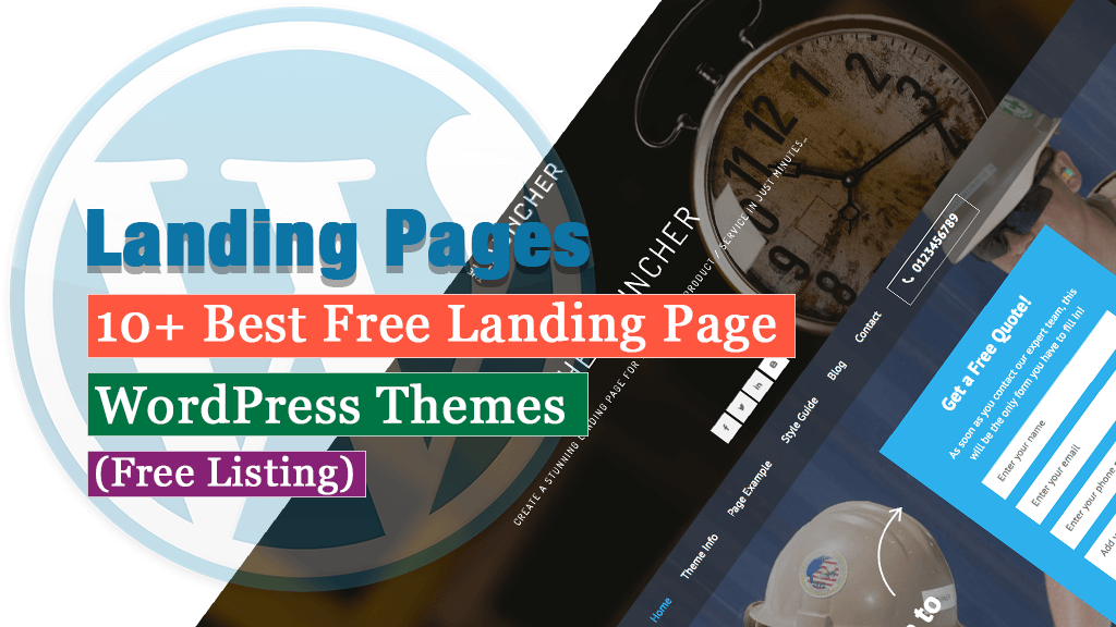 10+ Best Free Landing Page WordPress Themes (Free Listing)