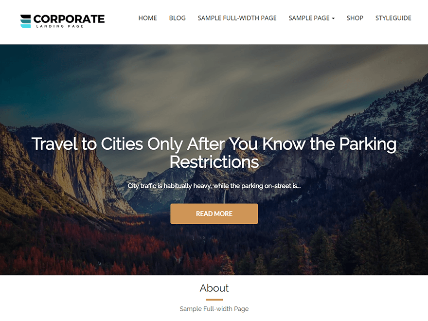 Corporate Landing Page - Best Free Landing Page WordPress Themes