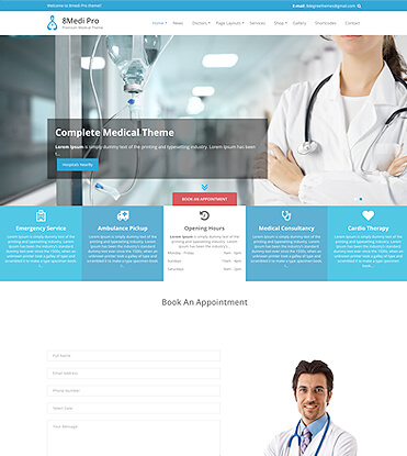 EightMedi Pro - Best Premium Medical & Healthcare WordPress Theme