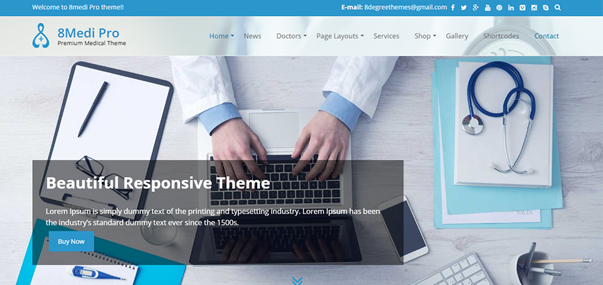 EightMedia Pro - Premium Hospital WordPress Theme