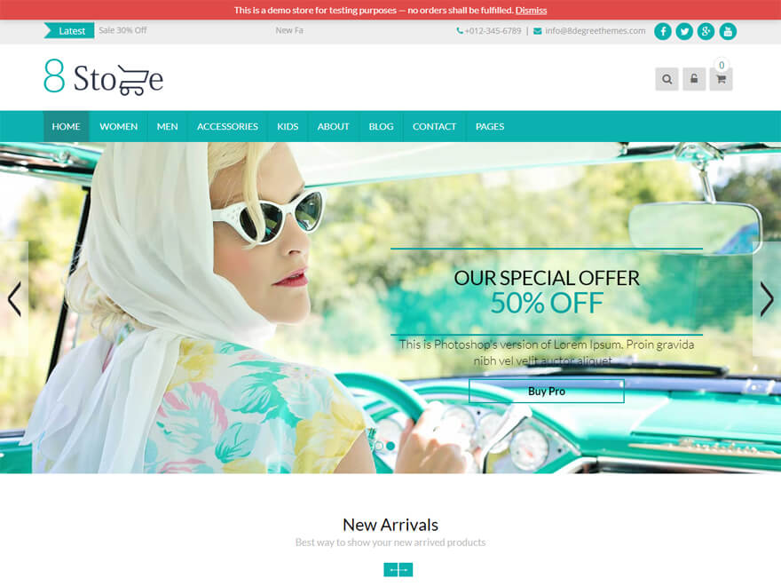 Eightstore Lite - Best E-commerce and WooCommerce WordPress Themes and Templates