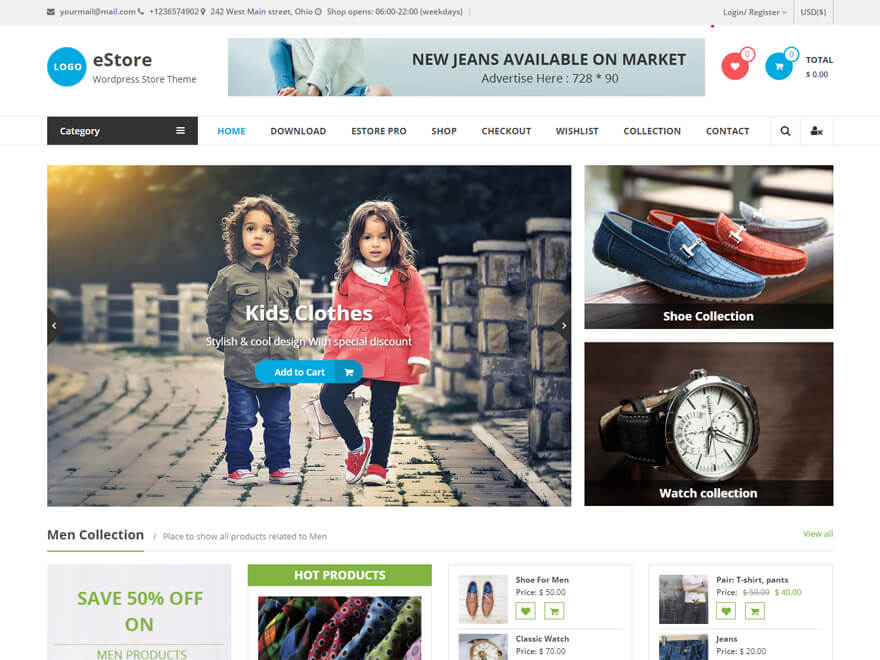 eStore - Best E-commerce and WooCommerce WordPress Themes and Templates