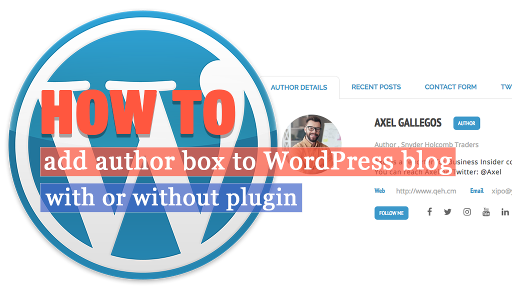 How to add an author box to WordPress blog? (with or without plugin)