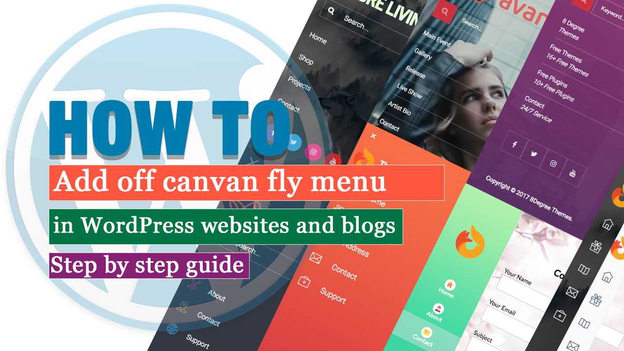 How to add off canvas fly menu in WordPress