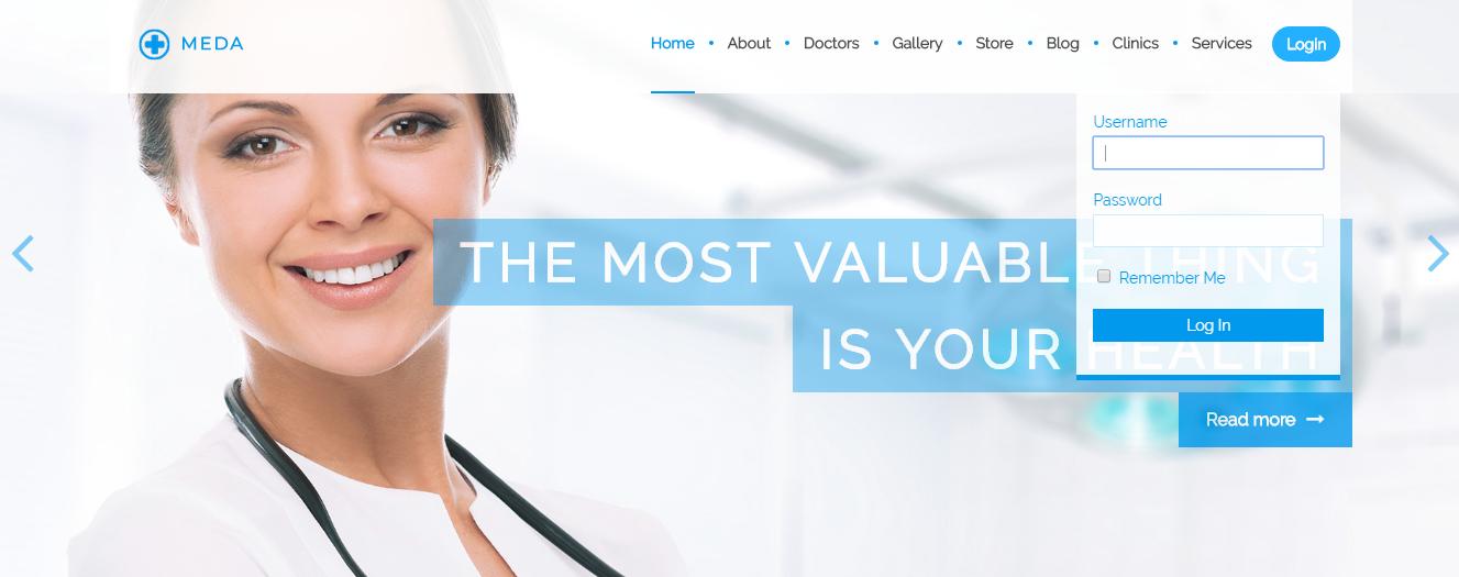 Meda - Premium Hospital WordPress Theme
