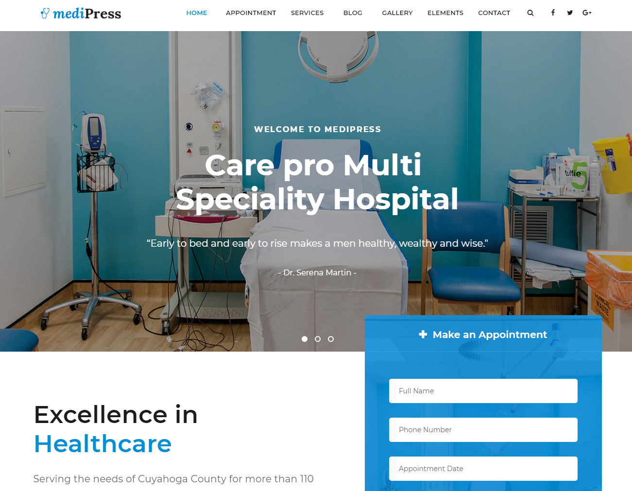 MediPress - Premium Medical WordPress Theme