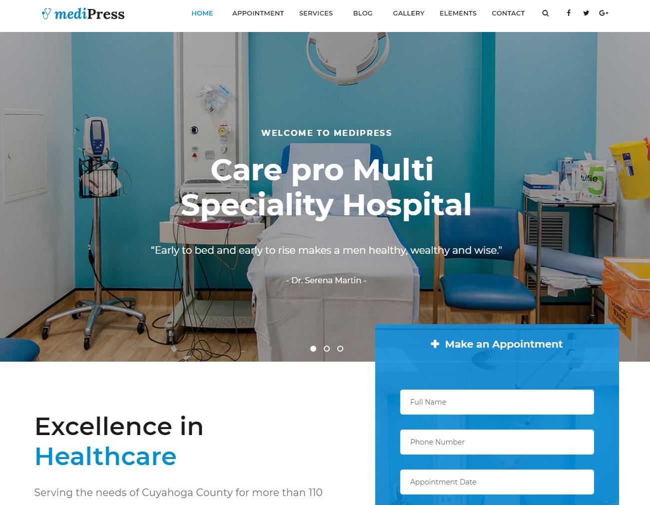 MediPress - Premium Medical WordPress Theme