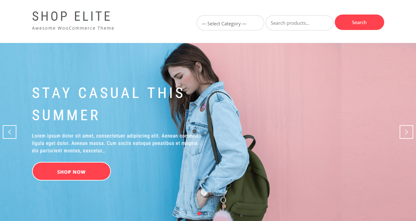 Shop Elite - Best E-commerce and WooCommerce WordPress Themes and Templates