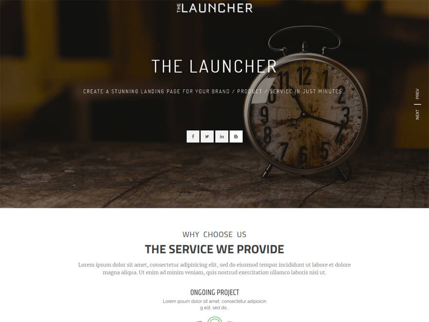 The Launcher - Best Free Landing Page WordPress Themes