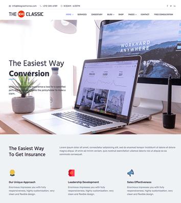 The100 - Best free multipurpose and multi-layout WordPress Theme