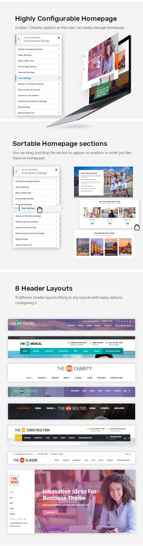 The100 Pro – Multipurpose and multi-layout Premium WordPress Theme