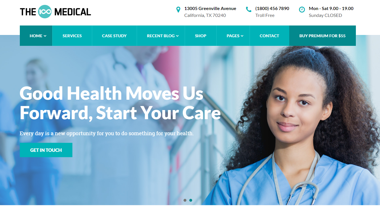 The100 Pro - Premium Medical WordPress Theme
