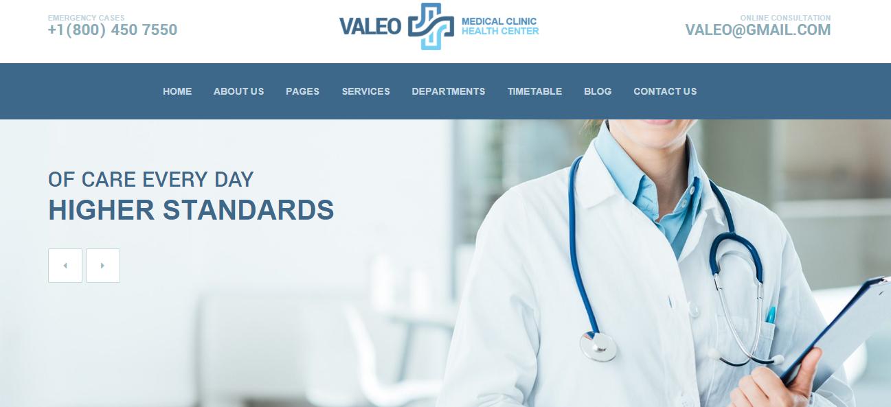 Valeo - Premium Modern Medical WordPress Theme