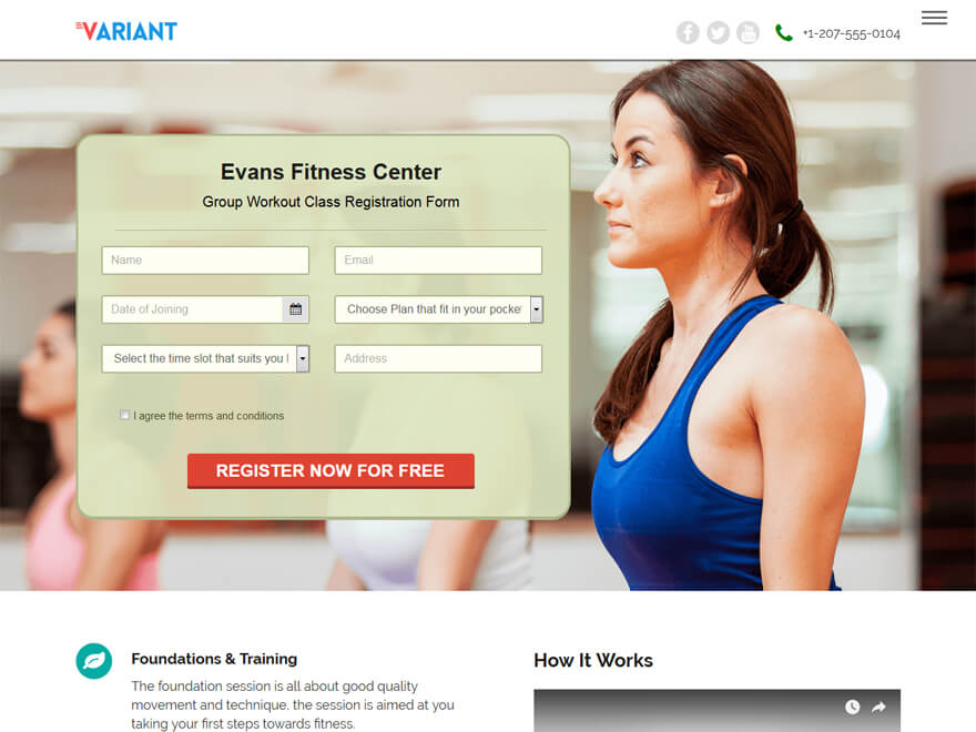 Variant Landing Page - Best Free Landing Page WordPress Themes