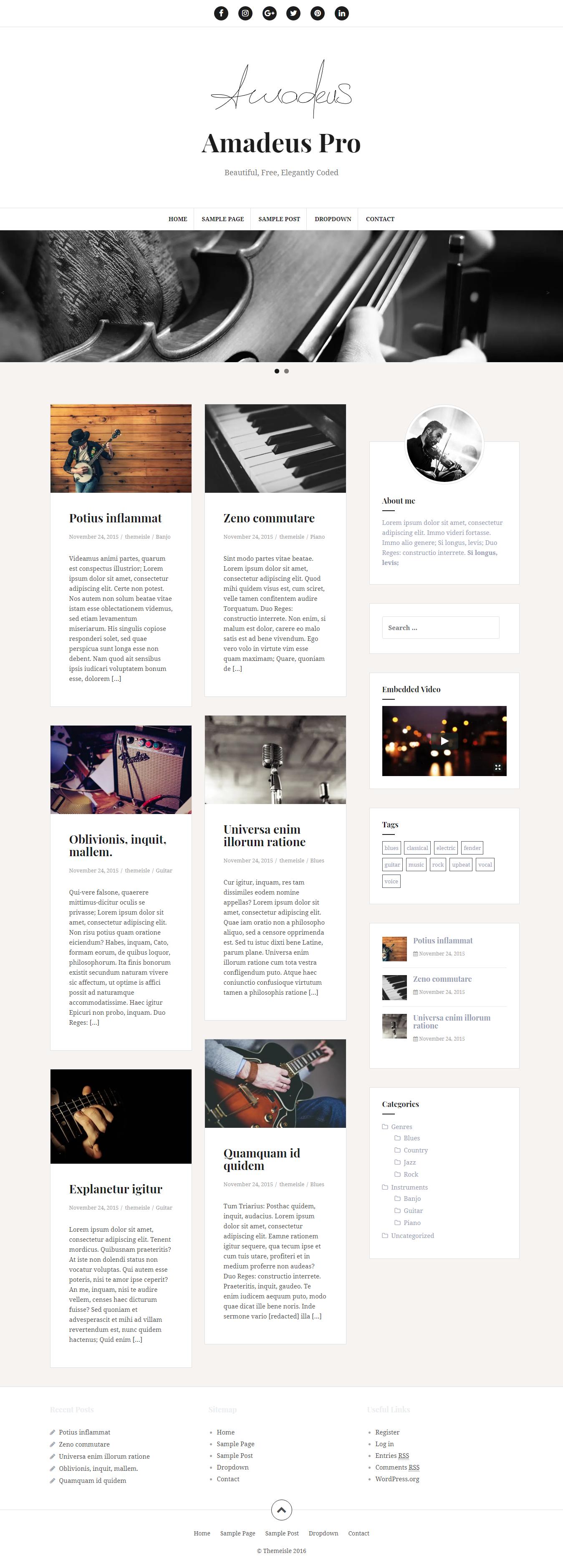 Amadeus Pro - Best Premium Responsive WordPress Themes