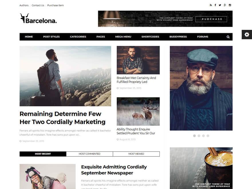 Barcelona - Best Premium News Magazine WordPress Themes