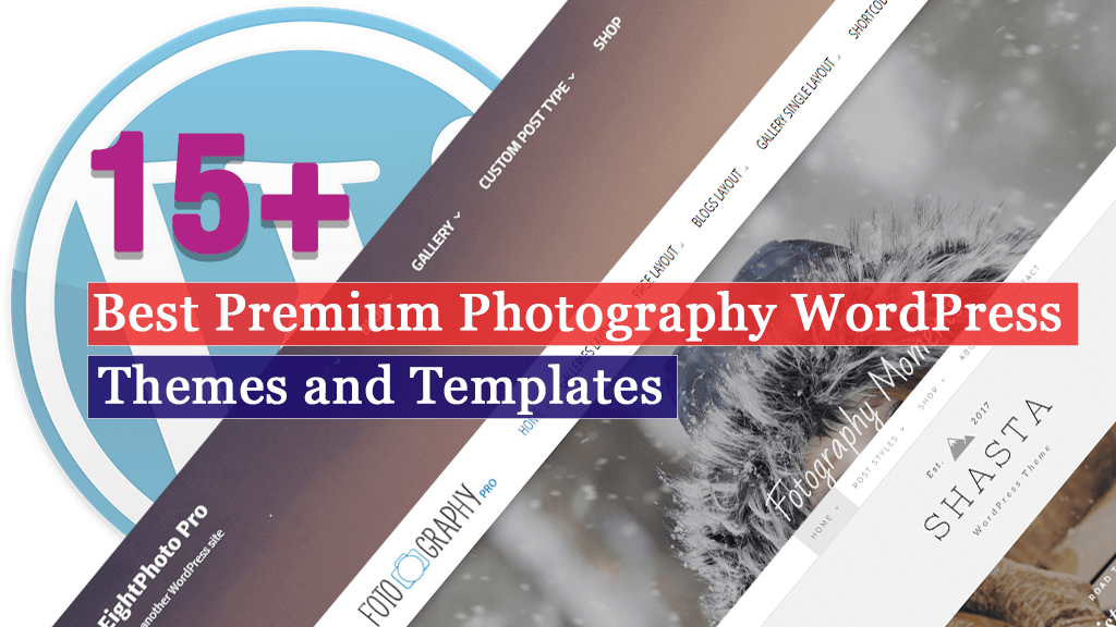15+ Best Premium Photography WordPress Themes and Templates