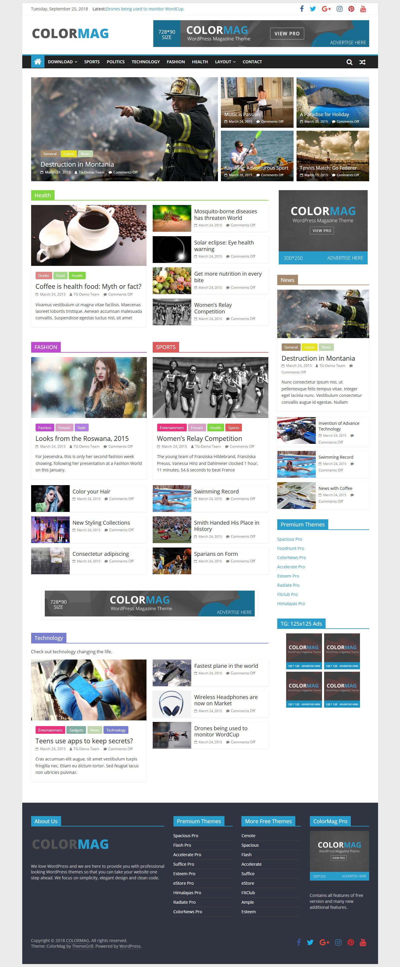 ColorMag - Best Premium Adsense Optimized WordPress Theme