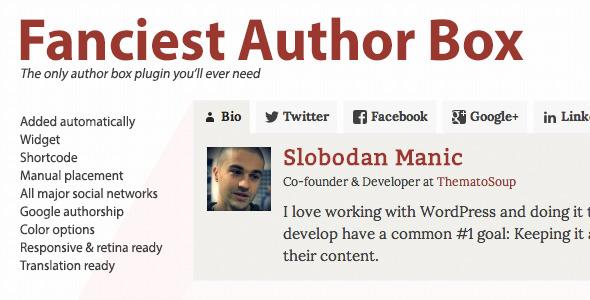 Best WordPress Author Bio Box Plugins: Fanciest Author Box