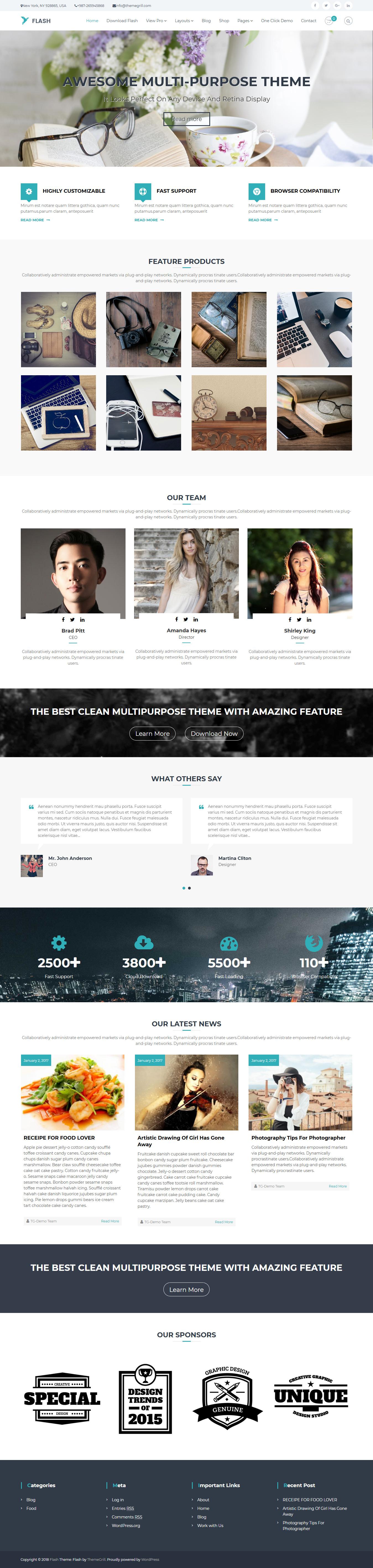 Flash – Best Free Agency WordPress Theme